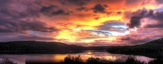 Table Rock Lake - We saw a beautiful sunset exactly like this but, this picture does is justice.