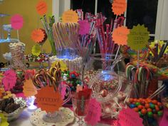 GLow in the Dark Party DIY Candy Buffet