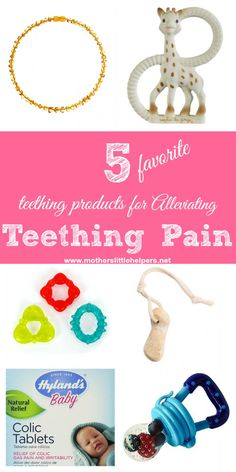 Is your baby irritable, whiney or even inconsolable? Here are my twin babies' 5 favorite teething products for alleviating teething pain.