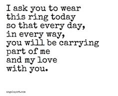 This would be a beautiful wedding vow love quotes pinterest beautiful as part of a ring exchange angelaport junglespirit Gallery