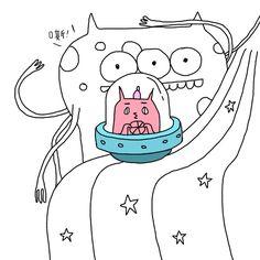  ( ̄3 ̄)  曬傷的貓遊太空