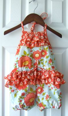Daydream Ruffled Romper by sproutingjubejube on Etsy, $45.00