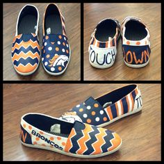 Painted shoes. Broncos!