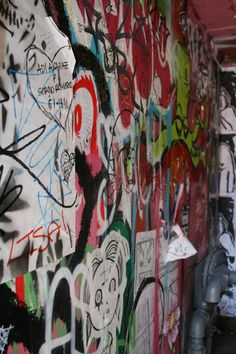 Graffiti wall next to Gum wall in Seattle.