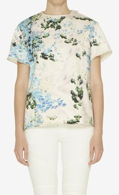 Peter Som Pink, Green And Multicolor Top