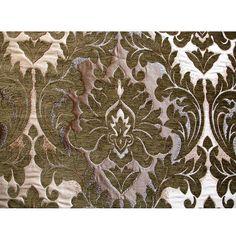Gris Terciopelo Suave Calidad impreso patrón de Damasco de mobiliario de tela de tapicería