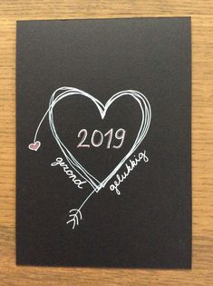 Test nieuwjaarskaartje 🤔 Diy Christmas Cards, Xmas Cards, Christmas And New Year, Holiday Cards, Christmas Crafts, Greeting Cards, Happy New Year Cards, Happy New Year 2019, Chalk It Up