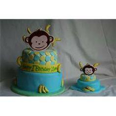 Pin Mod Monkey Ndash 1st Birthday Cake Dreamy Cakes On Pinterest picture 15705
