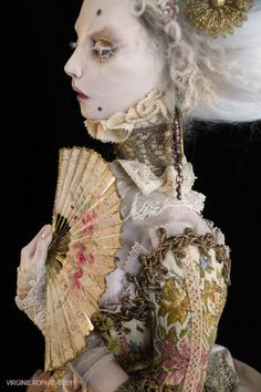 art dolls by Virgine Ropars http://vropars.free.fr/AVAILABLE/ACANTHOPHIS%20II_05.jpg