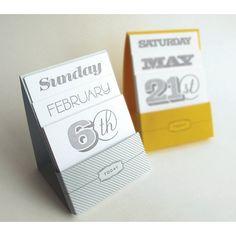 Letterpress Perpetual Desk Calendar by orangebeautiful on Etsy, $24.00