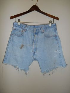LEVI'S 501 Jeans Usa 501 Button Fly cutoffs by ATELIERVINTAGESHOP
