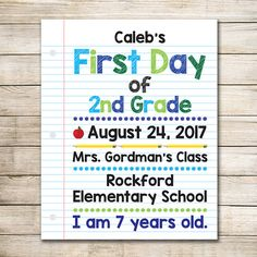 First Day of School Sign  Digital First Day of School Sign
