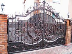 Кованые ворота и калитки: фото, цены, эскизы - ООО «Оборон-сталь»