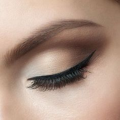 Thin eyeliner....not too over the top.