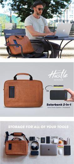 15c1a731db Solgaard Design is raising funds for Lifepack Hustle: Solar + Anti-theft  backpack & shoulder bag on Kickstarter! The best backpacks & shoulder bags  for your ...