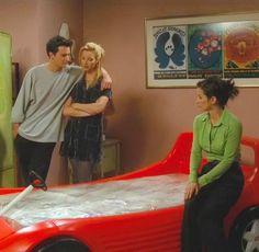 Monica's racecar bed