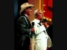 George Jones and Ricky Van Shelton : it hurts as much in texas (as it did in tennesee) - YouTube
