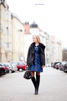 the denim dress > http://thegoldenbun.com/2016/01/the-denim-dress-and-the-styling-problem/