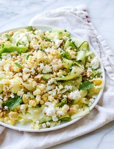 I'm sharing 18 of our favorite weeknight summer side dishes! Dishes that I can throw together on a weeknight with a grilled entree or something to make ahead of time for busy weeknight dinners. Perfect when you need something delish on a warm summer evening! Veggie Recipes, Real Food Recipes, Vegetarian Recipes, Cooking Recipes, Healthy Recipes, Feta Salad, Salad Bar, Soup And Salad, Vinaigrette