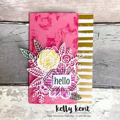Paper Adventures Team Hop | In with the new – kelly kent New Crafts, Paper Crafts, Watercolor Effects, Embossing Folder, Stampin Up, Adventure, Projects, Catalog, Ink
