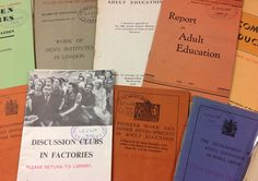 'A collection of pamphlets and articles about adult education, 1900s - 1940s.