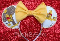Winnie the Pooh Handmade Custom Mouse Ears inspired by Disney