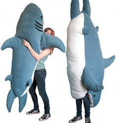 Stuffed animals are for little children, right? Wrong. This awesome ChumBuddy is awesome, regardless of your age. After all, who wouldn't want a 7-foot stuffed shark? Shark Week companion?? LOL.