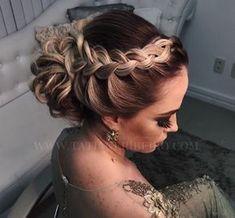 Party Frisuren: Koks – The post Party Frisuren: Koks – Wedding Hair Down, Wedding Hair And Makeup, Hair Makeup, Wedding Bun Hairstyles, Up Hairstyles, Medium Hair Styles, Curly Hair Styles, Hair Upstyles, French Twist Hair