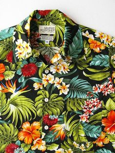 4f812752 Hawaiian Shirt: Sport shirt made from floral prints in tropical colors.