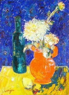 Bernard Lorjou (1908-1986) French Expressionist Painter ~ Blog of an Art Admirer Painting Still Life, Still Life Art, Paintings I Love, Flower Paintings, True Art, Art For Art Sake, French Artists, Figure Painting, Pretty Pictures