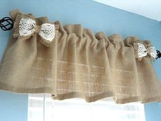 Hey, I found this really awesome Etsy listing at https://www.etsy.com/listing/255630954/burlap-valance-window-valance-housewares