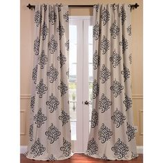 @Overstock.com - Tugra Printed Blackout Pole Pocket Curtain Panel - You will instantly fall in love with our blackout curtains and drapes. The fabric is super soft with a refined texture made with a special polyester yarn. These curtains keep the light out and provides optimal thermal insulation.  http://www.overstock.com/Home-Garden/Tugra-Printed-Blackout-Pole-Pocket-Curtain-Panel/8273760/product.html?CID=214117 $39.59