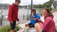 Wildes Frühstück am Hafen!