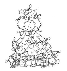 Free Xmas Tree girl...adorable!