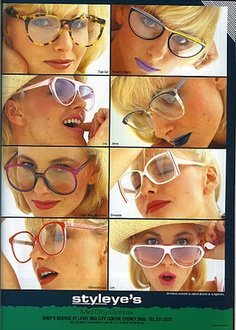 Mid City Optical ad from Vogue, September 1985.