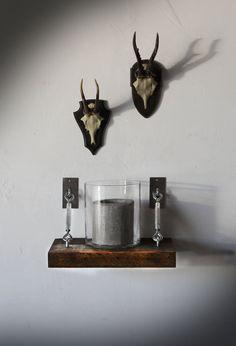 Set of 2 Turnbuckle Shelf Brackets for Floating от SilicateStudio