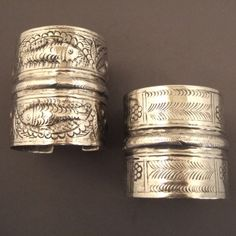 Early 20th century silver bracelets from the Oasis of Siwa in the Egyptian desert