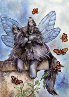 """Beautiful Faerie Cat, """"Sebastian"""" by Sarah Pauline"""