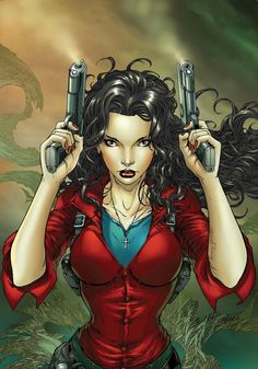 Anita Blake: Vampire Hunter; the star of Laurell K. Hamilton's series... great (supernatural) books as well!