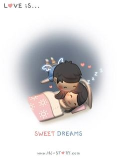 Love is...Kissing on her face before sleep!