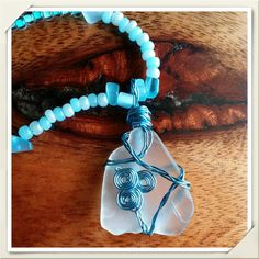 #Organic Wire Wrapped, Authentic Beach Glass #Beach #Treasure by Panache808Designs, $25.00