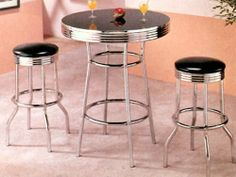 3-pc Pack Bar Table & Stool Set ADS1093 by click 2 go. $279.99. Bar Table. 2 Stool. some assembly maybe required.
