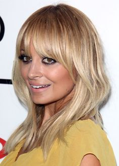 Nicole Richie Blonde Heavy Bangs - Casual, Evening, Everyday ...