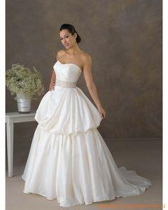 2013 Neue Brautmode aus Taft schulterfreier Ausschnitt und A-Linie Rock mit Kapelleschleppe