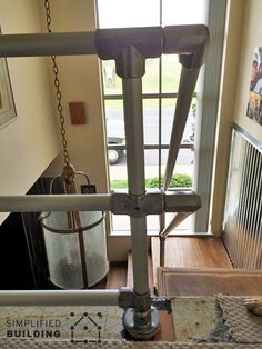 Modern Railing for a Rustic Home Stairway Remodel http://www.simplifiedbuilding.com/blog/modern-railing-for-a-rustic-home-stairway-remodel/ #railing #modern #contemporary #rustic