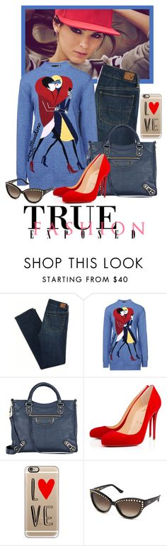 """""""Uptown Funk"""" by seafreak83 on Polyvore featuring American Eagle Outfitters, Love Moschino, Balenciaga, Christian Louboutin, Casetify, Moschino, women's clothing, women, female and woman"""