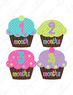 Girls Monthly Onesie Baby Stickers Leila by LittleBabyBumblebee,  9.00 Baby  Month Stickers, Baby Month 508aea4f64e