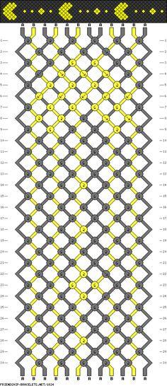 patrones de pulseras macrame