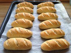 vágott zsemle receptje, recept fázisfotókkal, Kocsis Hajnalka receptje Hamburger, Bread, Food, Brot, Essen, Baking, Burgers, Meals, Breads