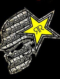 Rockstarl metalmulisha Motocross Logo, Motorcross Bike, Motorcycle Logo, Metal Mulisha, Rockstar Tattoo, Fox Racing Logo, Cannabis Wallpaper, Graffiti Wildstyle, Rockstar Energy Drinks